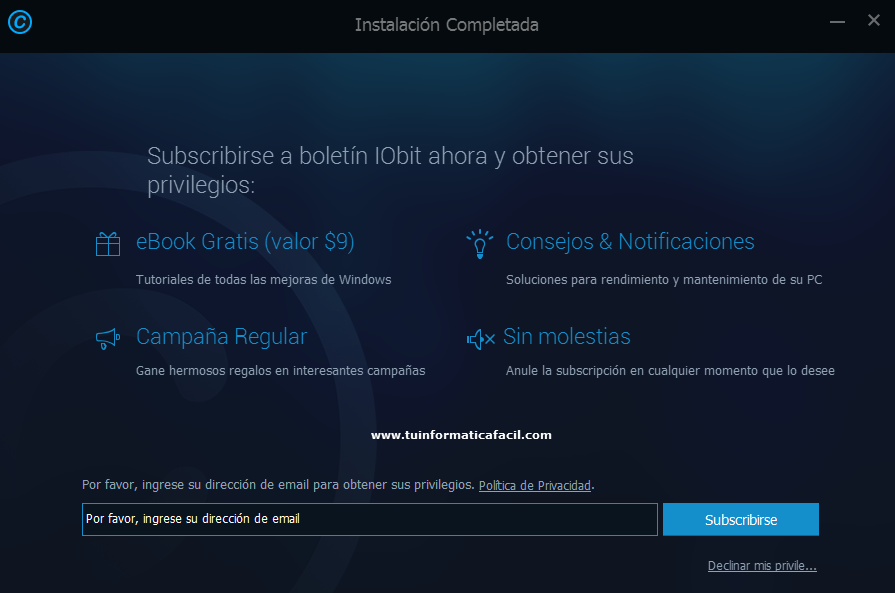 Instalar Advanced SystemCare Paso 3