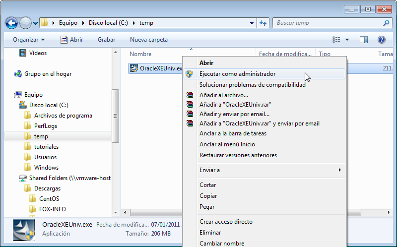 Como instalar Oracle Database 10g Express Edition XE