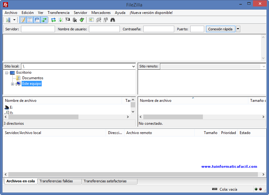 Descargar gratis cliente ftp Filezilla para sistemas Windows