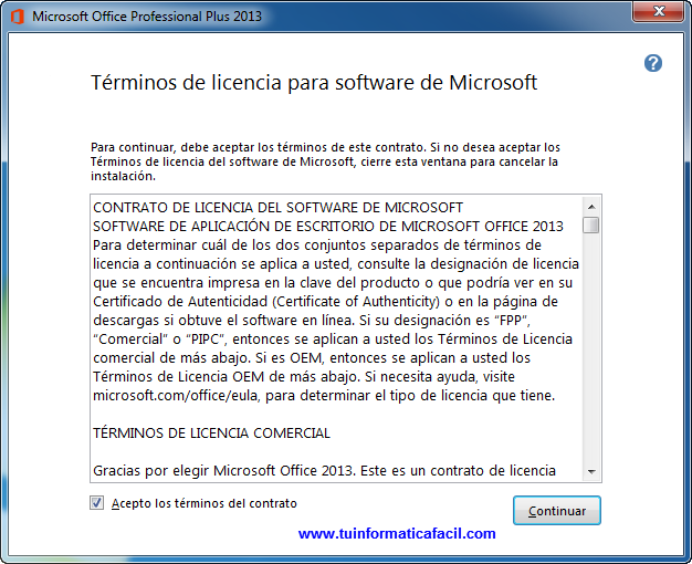 Como instalar Office Professional Plus 2013 en Windows