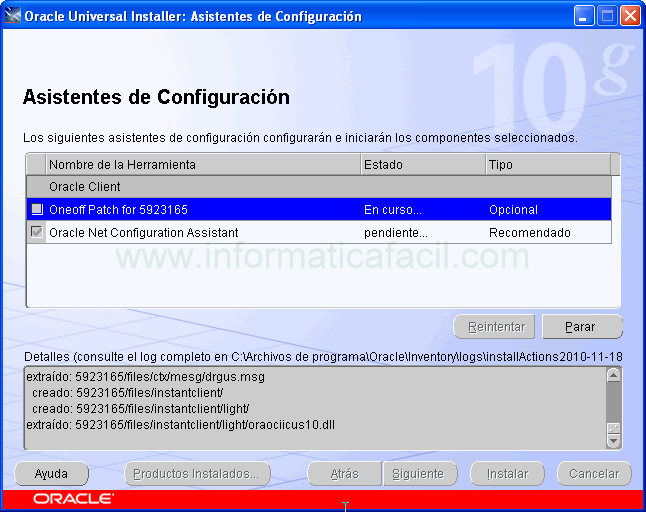 Oracle cliente installer imager 9.
