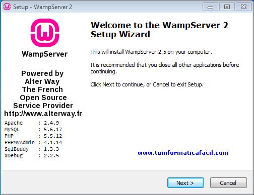 5.4 TÉLÉCHARGER PHP 32 WAMPSERVER BITS
