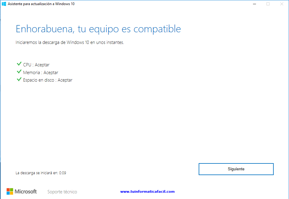 Como actualizar a Windows 10 Anniversary Paso 4